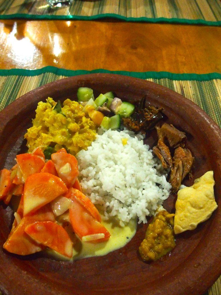 plat typique, cuisine Sri-Lanka