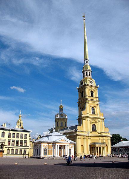 Eglise Peter & Paul à St-Petersbourg en Russie