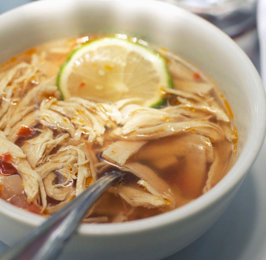 recettes mexicaines soupe poulet