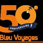 Logo 50 ans Bleu Voyages