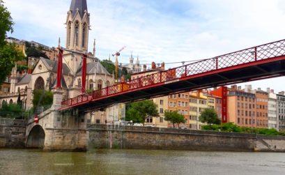 Passerelle Saint George à Lyon