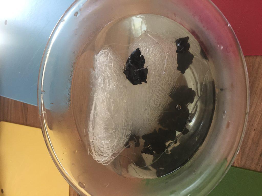 vermicelles et champignons noirs