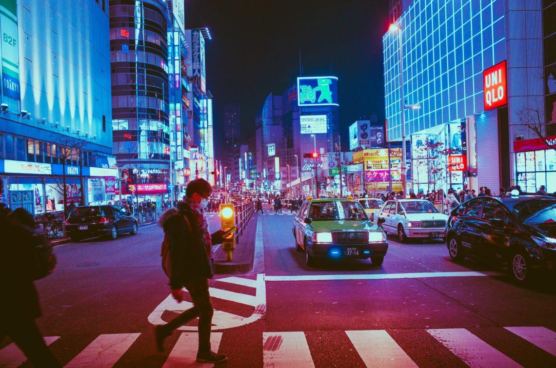 japan by night