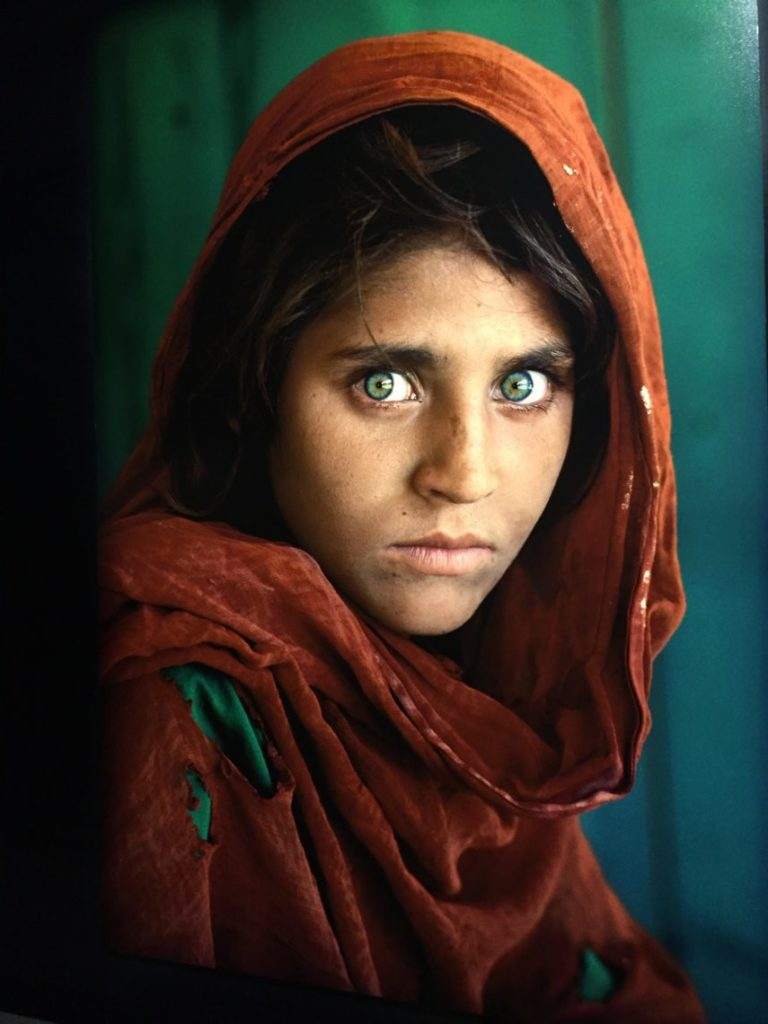 voyage - Sharbat Gula photo of Steve McCurry