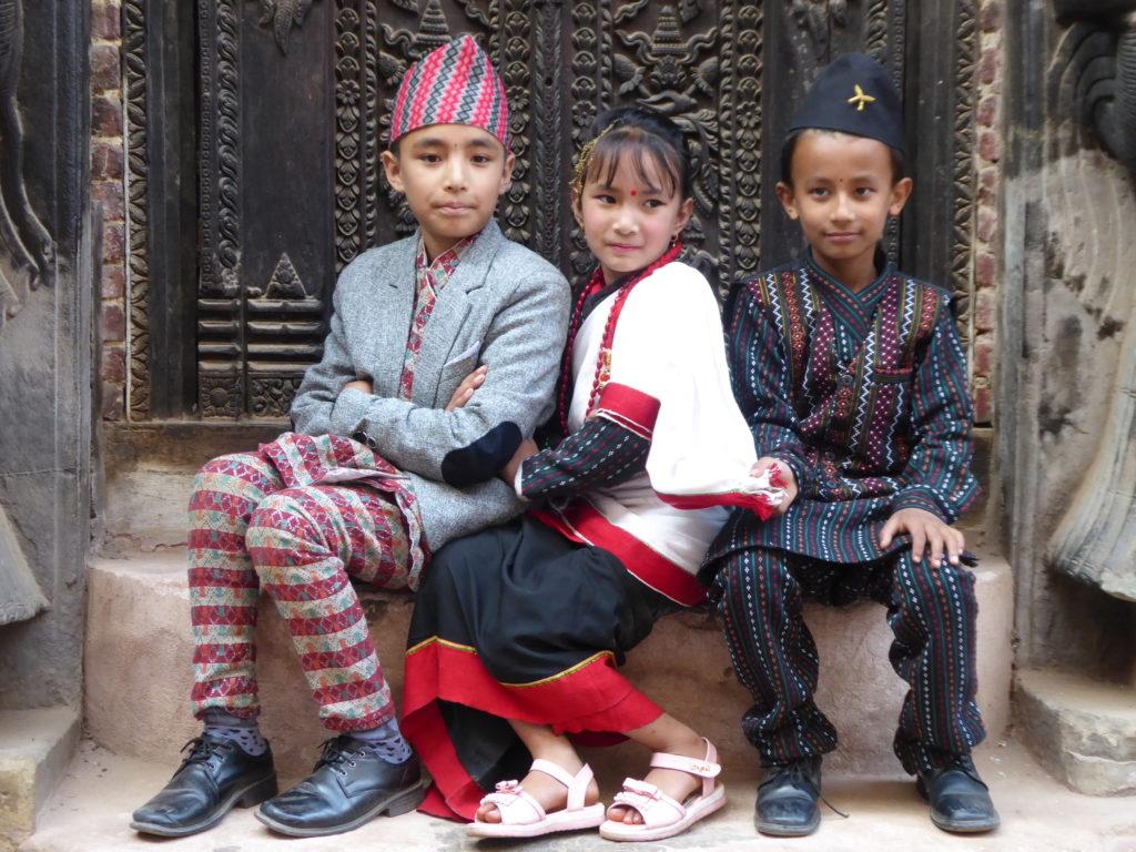 Népal, enfants Newar
