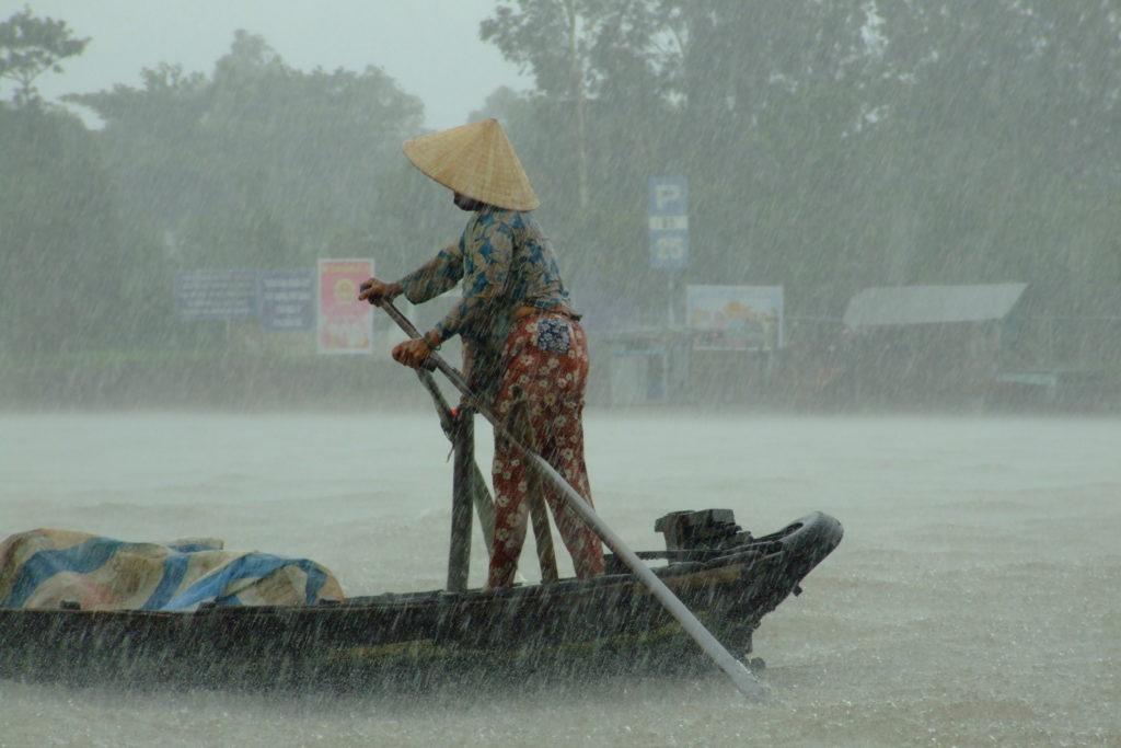 Pluie sur le Mékong