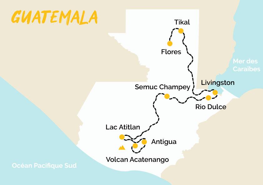 Itinéraire Guatemala