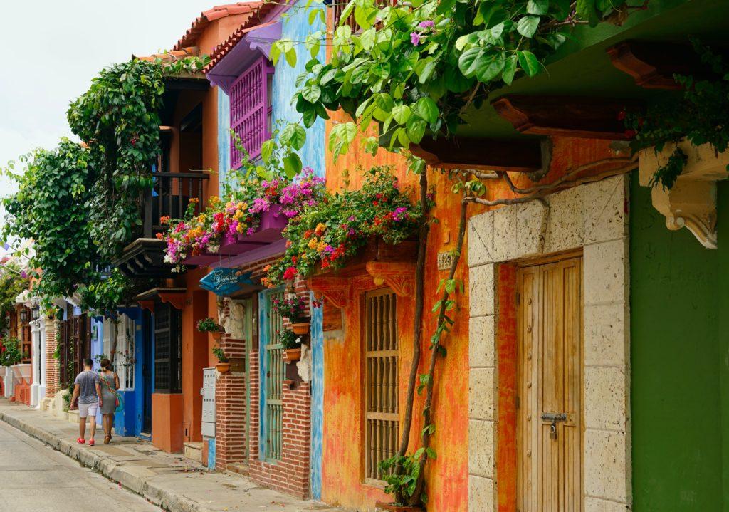 Ruelles colorées de Carthagène des Indes