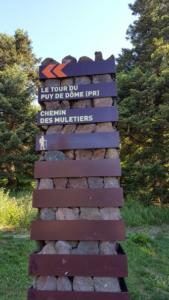 Le chemin des muletiers ou la tour du puy de dôme