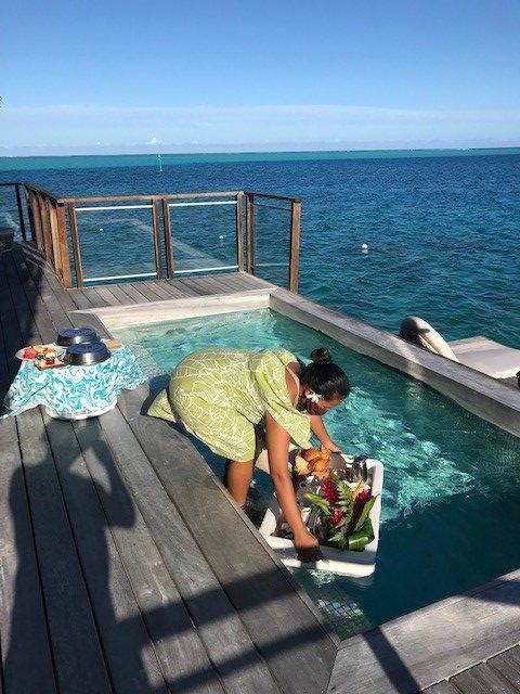 Acceuil et service de qualité au Conrad Hotel Bora Bora
