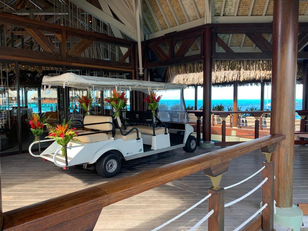 Voiturelle cacueil Conrad Bora Bora Nui