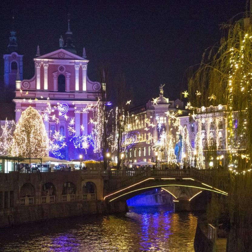 Ljubljana Slovénie à Noël