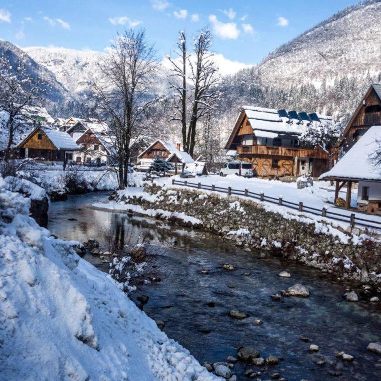 Bohinh en Slovénie l'hiver